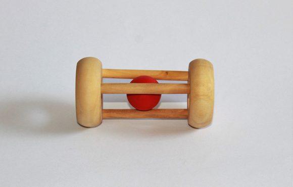 Rolling Ball Cylinder - Thasvi montessori wooden toys for babies kids