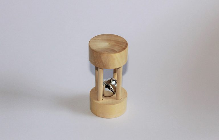 Rolling Bell Cylinder - Thasvi wooden baby toys Online Bangalore India