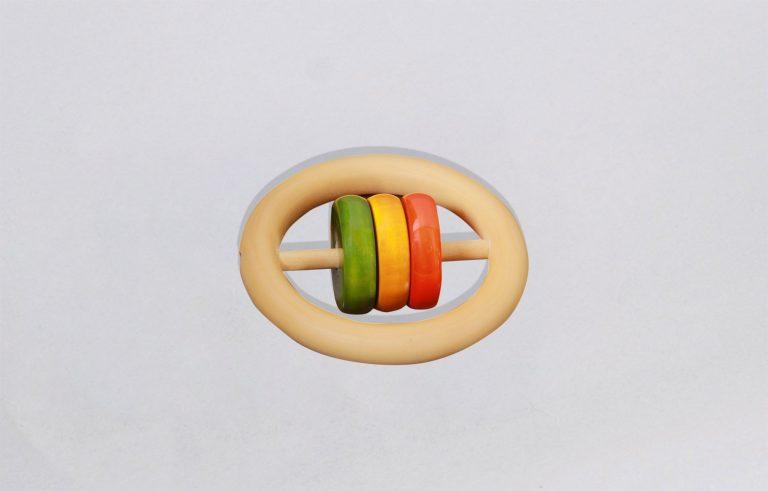Three Discs Rattle - Thavi wooden toys for babies India