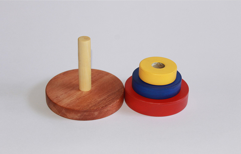 Primary Colours Stacker - Thasvi wooden children's toys