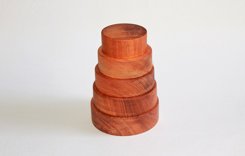 Nesting Circle Stacker - Toys handcrafted with Love Organic Child Safe