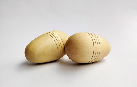 Wooden Egg Shakers - Shake them, rattle, or roll them, these wooden toys