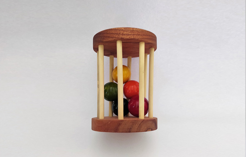 Classic Ball Cylinder - Montessori wooden toys for babies for 6 months