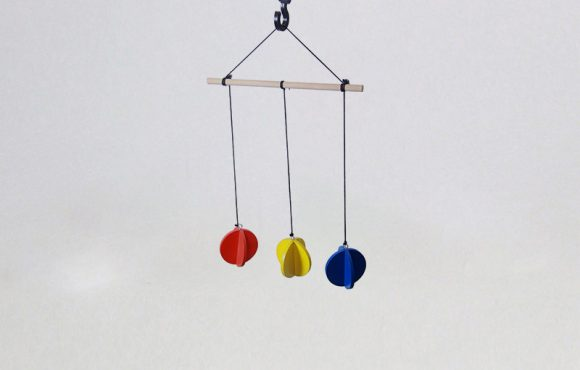 Primary Colors Mobile - wooden Toys for toddlers, babies and preschoolers
