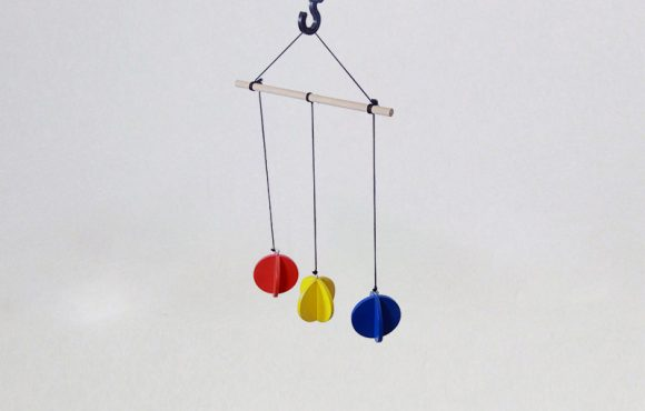 Primary Colors Mobile - Wooden Mobiles toys for kids babies