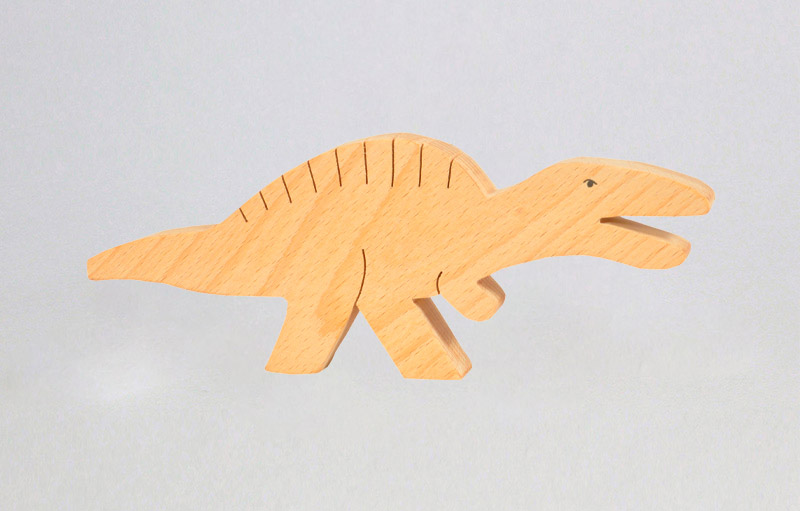 The Jurassic World, Wooden Dinosaur set, Skill building toys