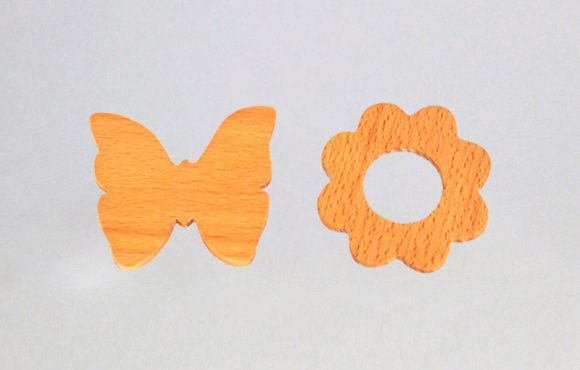 Wooden Teethers Set, Non-toxic wooden toys for infant & newborn babies
