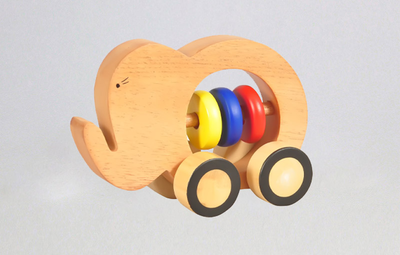 Wooden Elephant Push Toy | Best eco-friendly wooden toys online